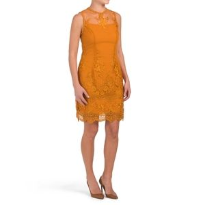 NWT Nanette Lepore Gold Embroidered Lace Dress